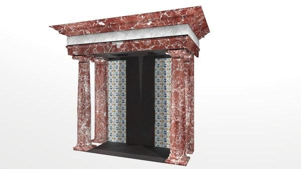 3D 17th fireplace model