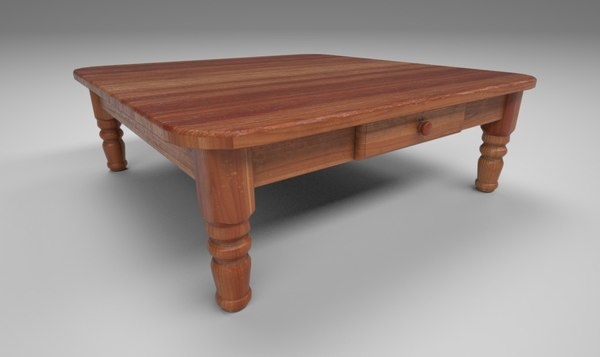 wood coffee table 3D