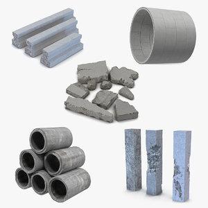 concrete elements 2 3D model