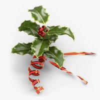 3D christmas holly model