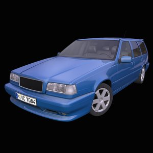 generic old station wagon 3D