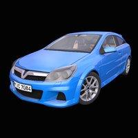3D model generic german hatchback