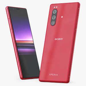 sony xperia 5 red 3D model