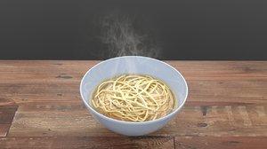 3D hot bowl noodle soup model