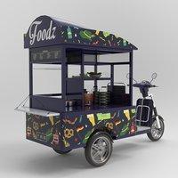 3D model tricycle motorcycle bike food