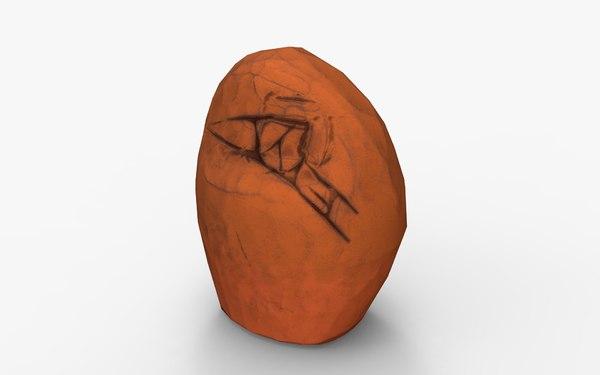 rock unreal 3D model