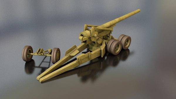 155 mm m1 caliber 3D model