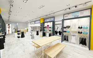 sport store clothing 3D model