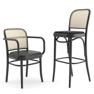 3D chair n 811 hocker model