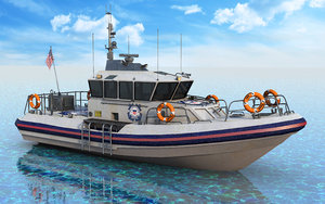 3D boat coast guard
