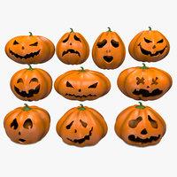 Halloween Pumpkins Emoji Set