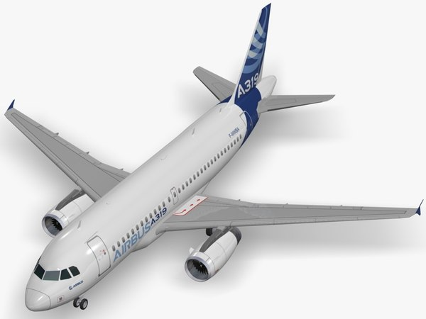 airbus a319-131 house livery 3D model