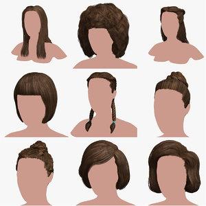 3D model hair 4