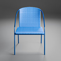 3D modern rattan bistro chairs model