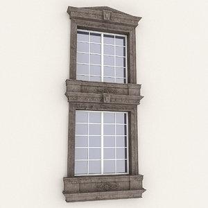 3D model window frame
