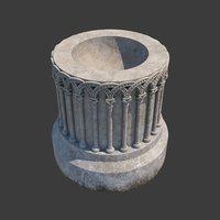 baptismal font church furniture 3D