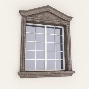 3D window frame model