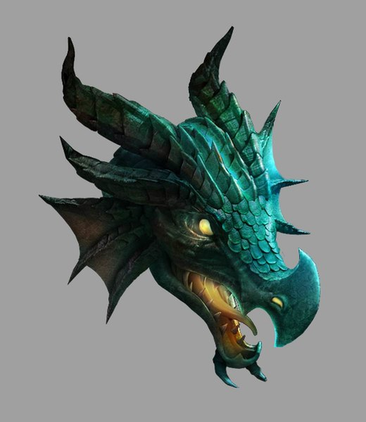 dragon prison - ice 3D model