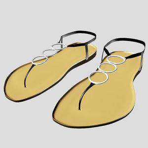 sandal 01 3D model