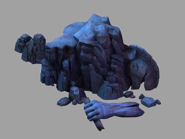 tomb - broken arm 3D