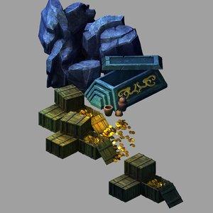 tomb - coffin box 3D