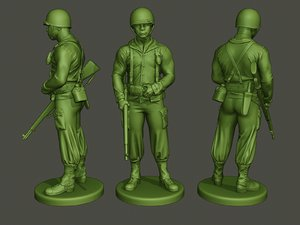 american soldier ww2 stand model
