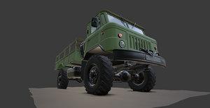 3D gaz 66 truck model
