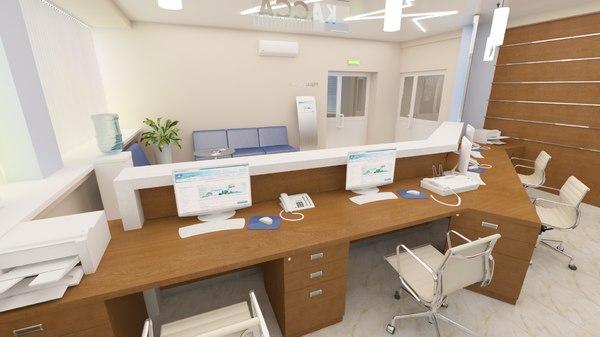 3D medical center horizon reception