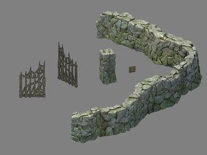 3D newman village farm -