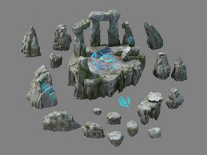 3D model nagisen grassland - altar