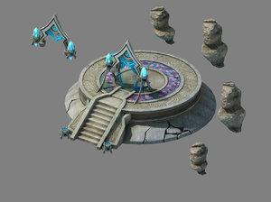 nagisen grassland - temple 3D model