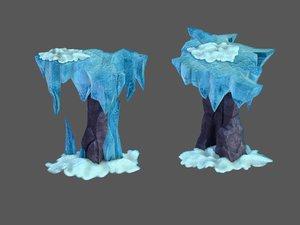 deep snow mountains - 3D