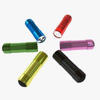 3D color mini flashlights lights model
