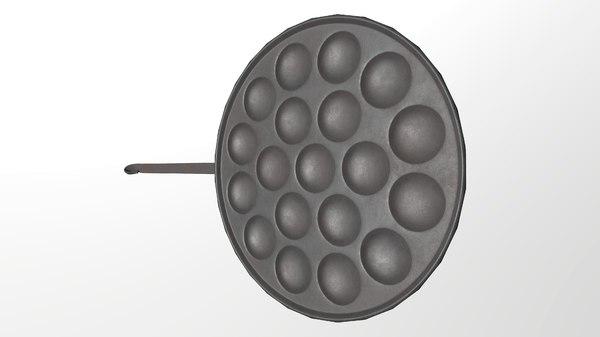pancake pan 3D model