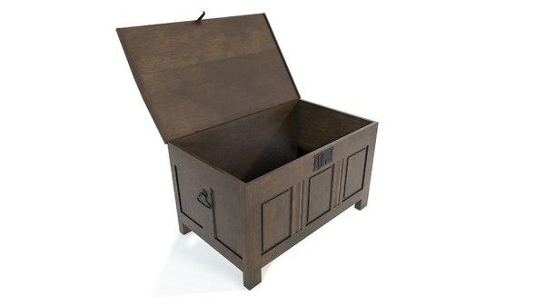 3D medieval chest