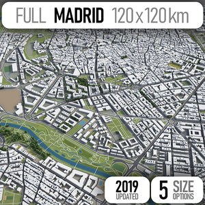 3D madrid area urban