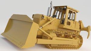 3D bulldozer td25g 1 model