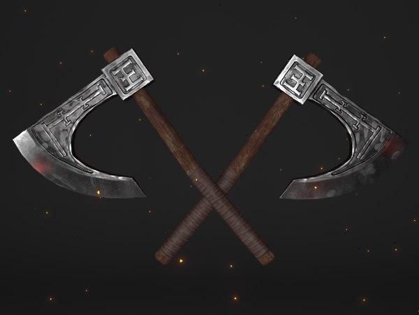 cult waraxe axe weapon 3D model