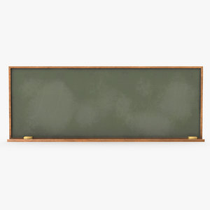 3D model classroom board