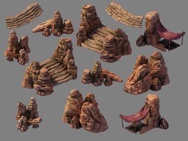 blood festival canyon - 3D model