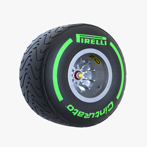 pirelli intermediate green 3D model