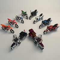 Low Poly Motorcycle Pack 02