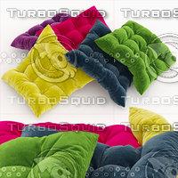set decorative pillows 3D