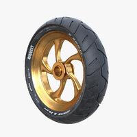 3D pirelli motorcycle tire