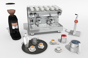 pack assets coffee 3D model