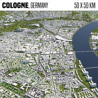 Cologne Germany 50x50km