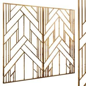 decorative partition set 29 3D