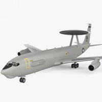 3D boeing e-3 e model
