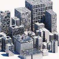 skyscrapers building 3D
