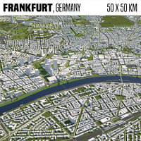 Frankfurt Germany 50x50km